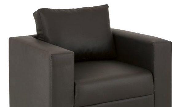 1-Seater-Sofa-Brown-PVC