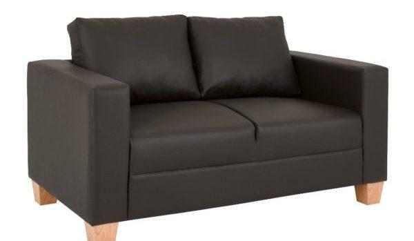 2-Seater-Sofa-Brown-PVC