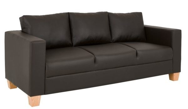 3-Seater-Sofa-Brown-PVC
