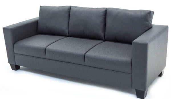 3-Seater-Sofa-Grey-PVC