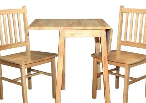MALAY DROP LEAF WITH WOODEN CHAIRS