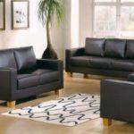 Sofa-Set-Black-PVC