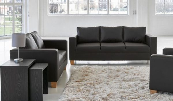 Sofa-Set-Brown-PVC
